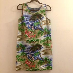 Talbots Tropical Print Dress